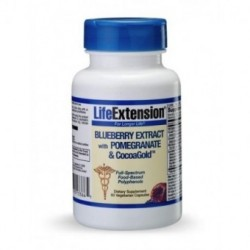 LIFE EXTENSION BLUEBERRY EXTRACT with pomegranate and Cocoagold™ 60CAPS