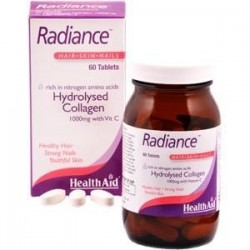 HEALTH AID RADIANCE HYDROLYSED COLLAGEN 1000mg with Vit. C 60 Tabs