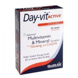 HEALTH AID DAY-VIT ACTIVE Co-Q-10 & GINSENG 30 tabs