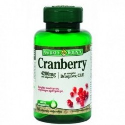 Nature's Bounty Cranberry 4200mg με βιταμίνες C&E 50 caps