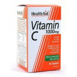 HEALTH AID VITAMIN C 1000 mg 30 vegan tabs prolonged release