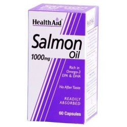 Health Aid Salmon Oil Freshwater 1000mg capsules 60's