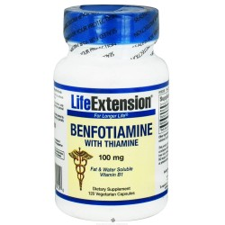 LIFE EXTENSION BENFOTIAMINE WITH THIAMINE 100mg 120 caps